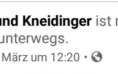 Raimund Kneidinger zu Gast bei uns